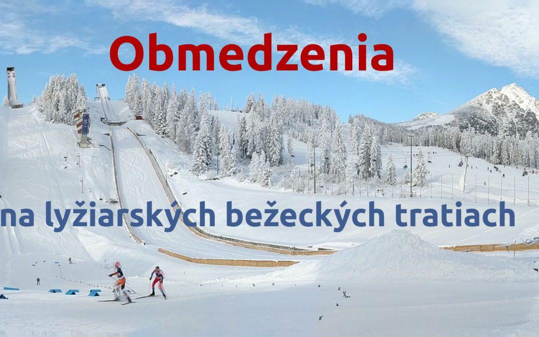 Obmedzenia na lyžiarských bežeckých tratiach Štrbské Pleso 27.-29.12.2019
